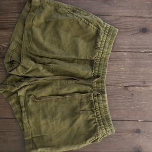 Old Navy Olive Green Drawstring Shorts